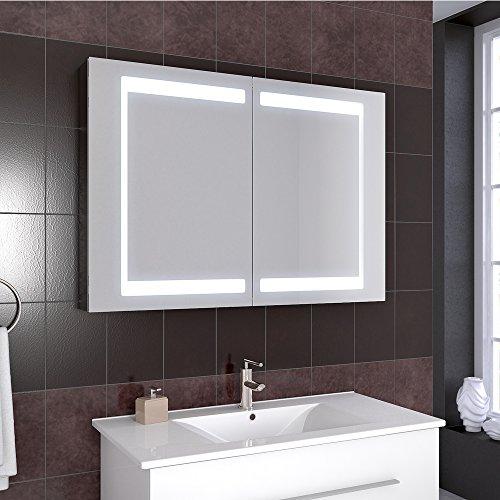 Badezimmer Spiegelschrank Aluminium Bad Schrank Led Steckdose