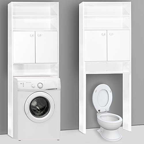 Badezimmerschrank für Waschmaschine - Badschrank Badhochschrank Badregal  Waschmaschinenschrank