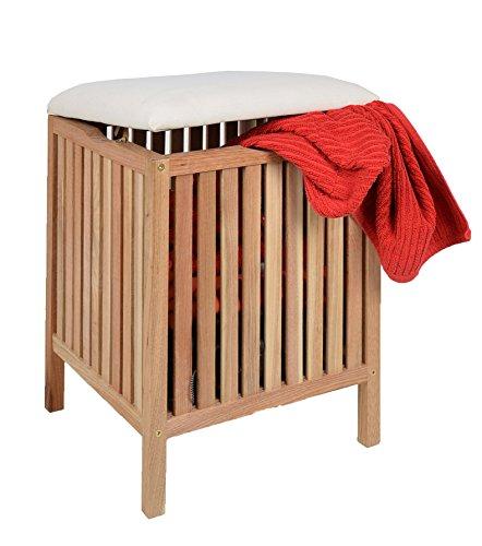 Badhocker und wäschetrue aus holz | badehocker holz