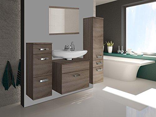 badm bel badezimmer 39 evo 19 39 4tlg set in sonoma eiche tr ffel ohne waschbecken. Black Bedroom Furniture Sets. Home Design Ideas