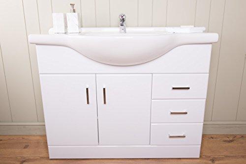 badm bel badezimmerm bel waschbecken unterschrank freistehend 1050mm wei. Black Bedroom Furniture Sets. Home Design Ideas