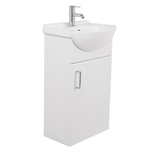 badm bel badezimmerm bel waschbecken unterschrank freistehend 450mm wei. Black Bedroom Furniture Sets. Home Design Ideas