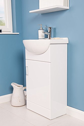 Badezimmermobel Waschbecken.Badmobel Badezimmermobel Waschbecken Unterschrank Freistehend 450mm