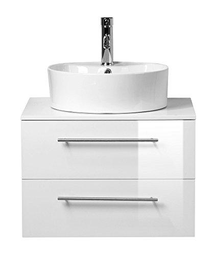 badm bel casa perge weiss hochglanz mit aufsatzwaschbecken. Black Bedroom Furniture Sets. Home Design Ideas