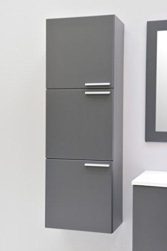 badm bel hochschrank midischrank h ngeschrank badezimmer graphite matt vormontiert. Black Bedroom Furniture Sets. Home Design Ideas