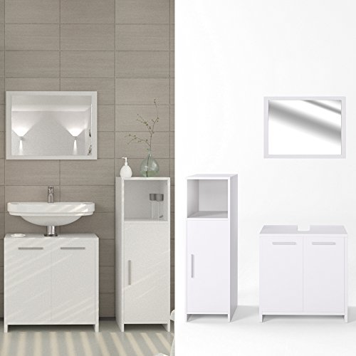 Badmöbel Set Badezimmer Spiegel Waschtischunterschrank Bad