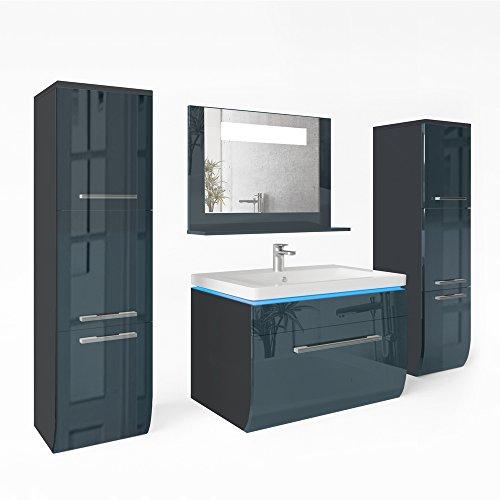 Hervorragend Badmöbel Set Badezimmer Waschbecken Spiegel LED Waschtisch DG03