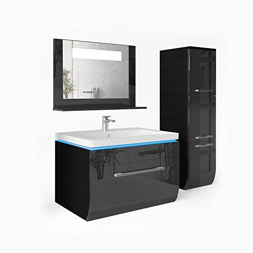 Badm bel set badezimmer waschbecken spiegel led waschtisch for Spiegel juli 2018