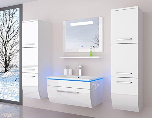 Badmöbelset Badezimmermöbel Komplett Set Waschbeckenschrank mit ...