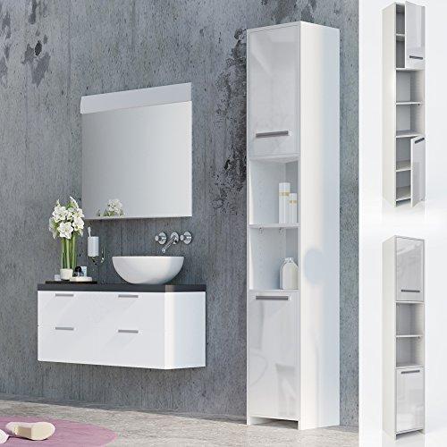 badschrank badezimmerschrank hochschrank badm bel schrank. Black Bedroom Furniture Sets. Home Design Ideas