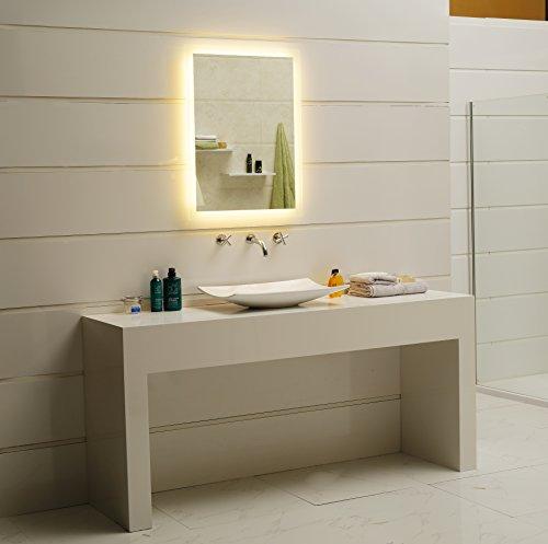 Badspiegel led spiegel gs084n mit beleuchtung durch satinierte lichtfl chen badezimmerspiegel - Badezimmerspiegel mit beleuchtung gunstig ...
