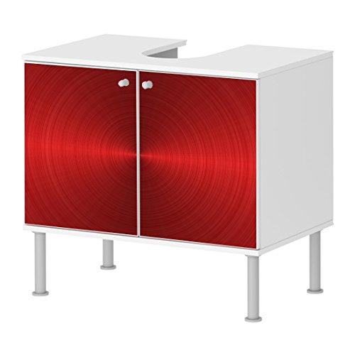 badunterschrank badezimmer schallplatten in rot getrichen designer schrank schickes design neu. Black Bedroom Furniture Sets. Home Design Ideas