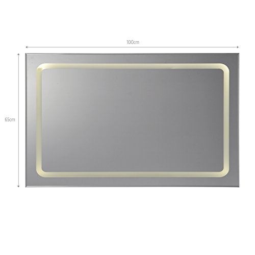 beleuchteter wandspiegel badspiegel spiegel led modell. Black Bedroom Furniture Sets. Home Design Ideas