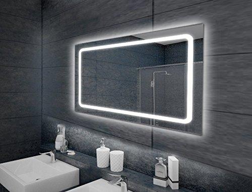 beleuchteter wandspiegel badspiegel spiegel led modell eustath 100 x 65 cm. Black Bedroom Furniture Sets. Home Design Ideas