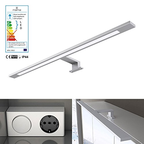 breite 60cm 9w led spiegellampe trafo mit schalter und steckdose 230v 9w 750 lumen. Black Bedroom Furniture Sets. Home Design Ideas