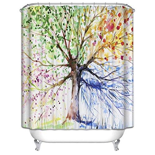 180x180 cm Duschvorhang | Bunter Duschvorhang  |  anti-schimmel duschvorhang