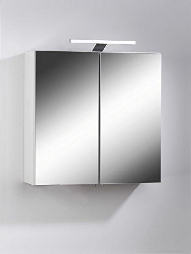 cavadore 86137 spiegelschrank sharpcut bad eleganter badezimmerschrank mit spiegel inkl. Black Bedroom Furniture Sets. Home Design Ideas