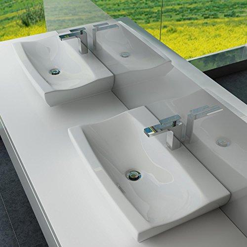 design keramik aufsatzwaschbecken waschtisch wandmontage f r badezimmer g ste wc a63. Black Bedroom Furniture Sets. Home Design Ideas