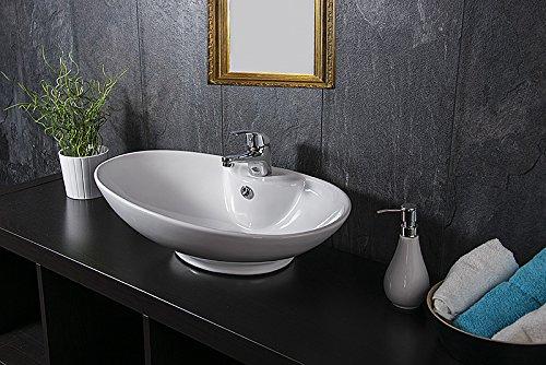 design keramik waschschale oval aufsatz waschbecken waschtisch waschplatz. Black Bedroom Furniture Sets. Home Design Ideas