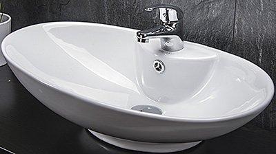 Design Keramik Waschschale Oval Aufsatz Waschbecken Waschtisch