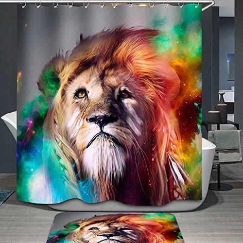 Regenbogen Duschvorhang | Löwe motiv Duschvorhang