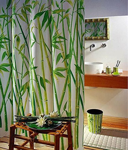 duschvorhang wannenvorhang bambusmotiv bamboo im ma. Black Bedroom Furniture Sets. Home Design Ideas