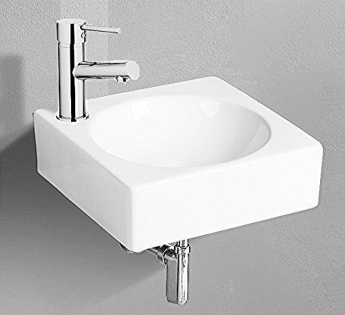 Design Keramik Handwaschbecken mit Nano Waschtisch Lotus Effekt Eckig Becken