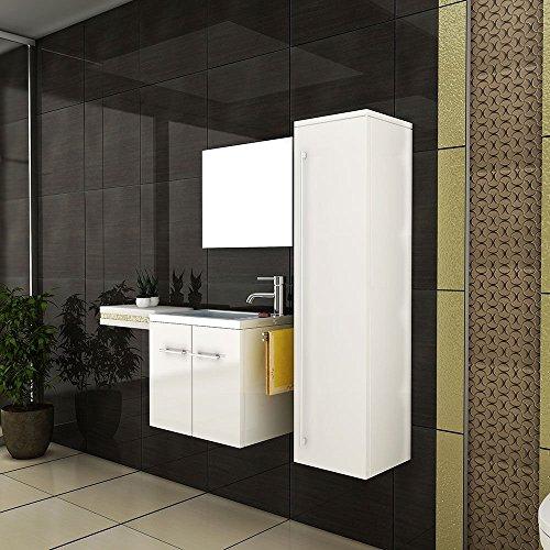 g ste wc waschbeckenunterschrank weiss badm bel waschtisch handwaschbecken mit soft. Black Bedroom Furniture Sets. Home Design Ideas