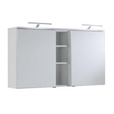 120x66x20 cm Spiegelschrank | Badezimmer Spiegelschrank  | LED- Aufbauleuchte Spiegelschrank