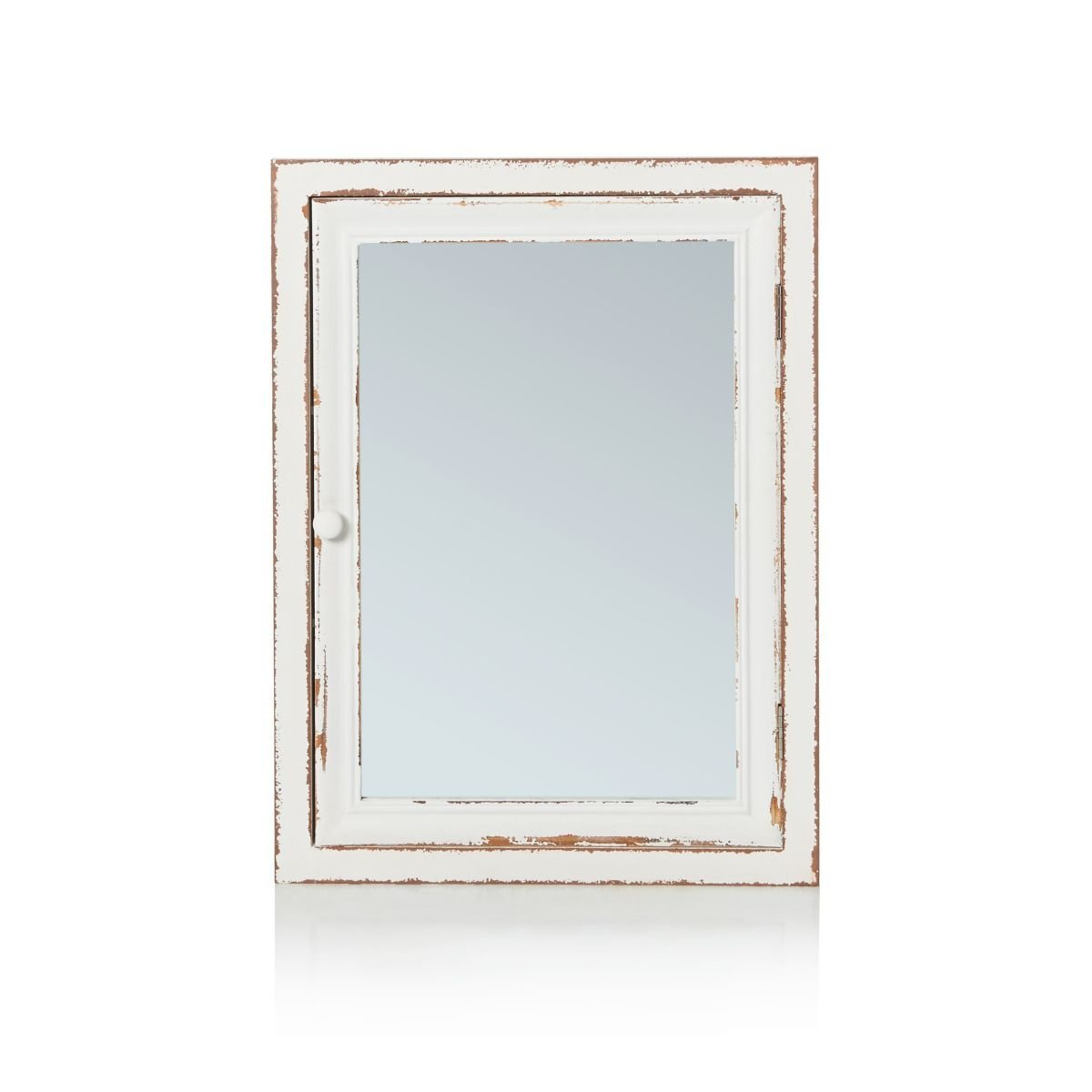 IMPRESSIONEN living Spiegelschrank Holz Shabby Chic Vintage Look Weiß