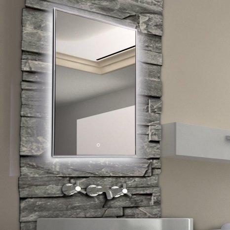 Krollmann badspiegel badezimmerspiegel mit beleuchtung 60 - Badezimmerspiegel mit beleuchtung gunstig ...