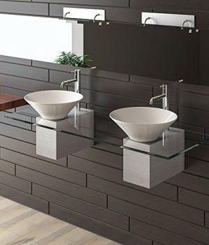 doppelt Keramik Waschbecken , Waschplatz mit doppelt Waschbecken , doppeltwaschbecken