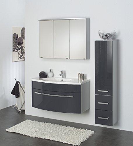 Badmöbelset | Badset | Badschrank mit Spiegel und Waschplatz