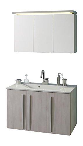 kesper badm bel 3054610374623050 waschplatz madeira set 2 teilig spiegelschrank 3 t ren led. Black Bedroom Furniture Sets. Home Design Ideas