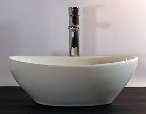Kleines Keramik Aufsatz Waschbecken Oval Gaste Wc 40x32cm