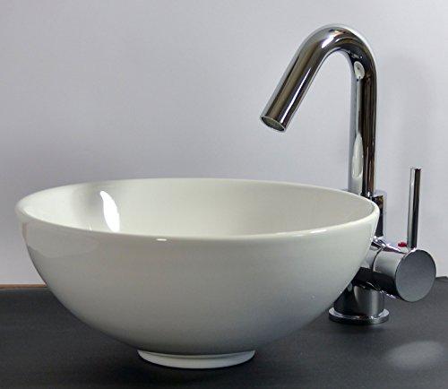 kleines keramik aufsatz waschbecken rund 28cm g ste bad. Black Bedroom Furniture Sets. Home Design Ideas