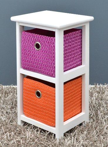 kommode nachttisch schrank mit bunten k rben. Black Bedroom Furniture Sets. Home Design Ideas