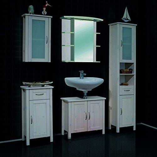 komplettbad mit spiegelschrank badezimmerm bel massivholz badm bel 5 teilig kiefer massiv wei. Black Bedroom Furniture Sets. Home Design Ideas
