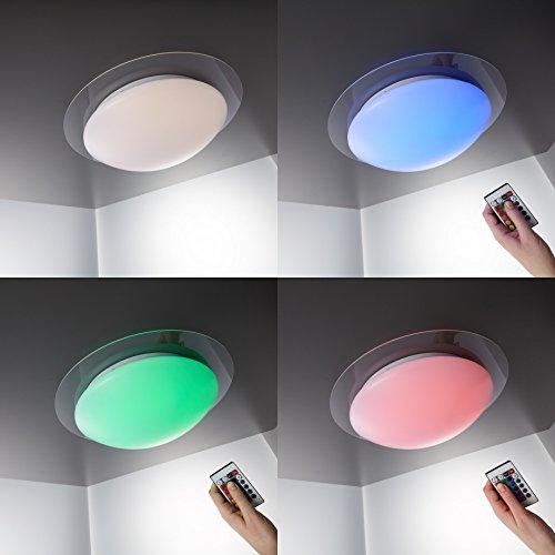 led deckenleuchte dimmbar 16 farben inkl led platine 230v. Black Bedroom Furniture Sets. Home Design Ideas