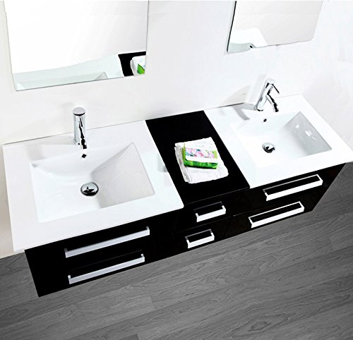 Luxus4home design doppel badm bel set serpia dual for Badezimmermobel set mit waschtisch
