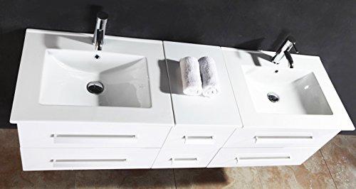 luxus4home design doppel badm bel set serpia dual wei waschtisch set 150cm inkl 2 armaturen. Black Bedroom Furniture Sets. Home Design Ideas