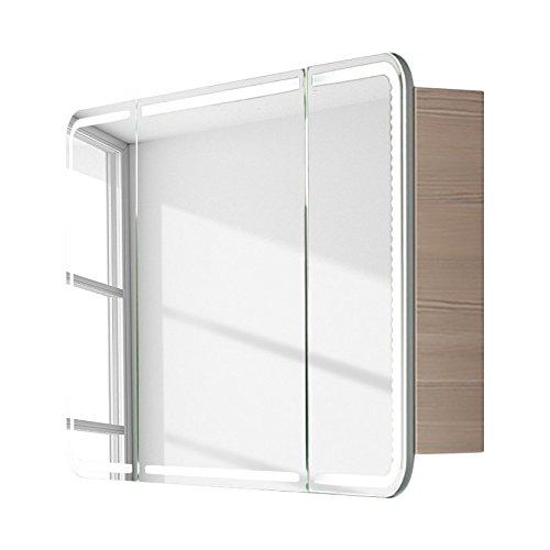 Spiegelschrank 120cm breit mit LED-Ring | Lanzet Spiegelschrank 120 mit LED-Ring | Spiegelschrank mit LED Ring