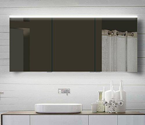 Lux-aqua Alu Badezimmerspiegelschrank Bad Spiegelschrank mit Led ...