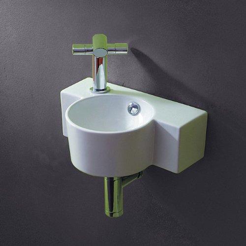 Waschbecken rund gäste wc  Lux-aqua Gäste-WC Waschbecken zur Wandmontage 4413 » Badezimmer1.de