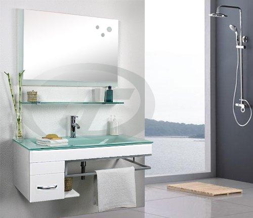 Badezimmermobel Waschbecken.Modern Badset Badmobel Badezimmermobel Waschbecken Spiegel Inklusive