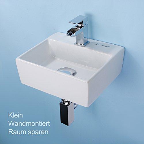 mini bad h nge waschschale waschtisch wandmontiertes handwaschbecken mit schmalem rand f r g ste. Black Bedroom Furniture Sets. Home Design Ideas