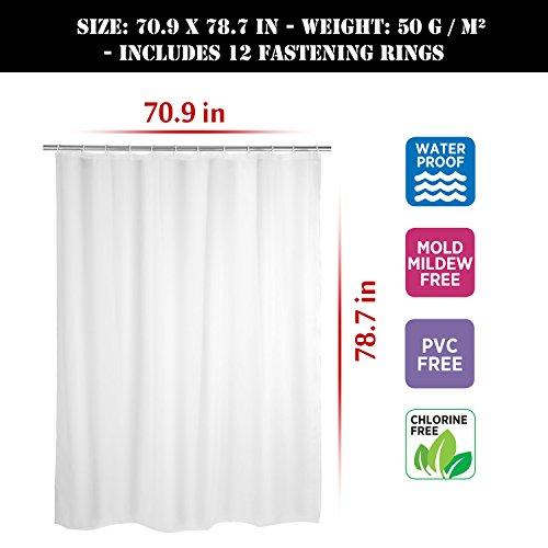 mture duschvorhang anti schimmel anti bakteriell waschbar shower curtain water repellent. Black Bedroom Furniture Sets. Home Design Ideas