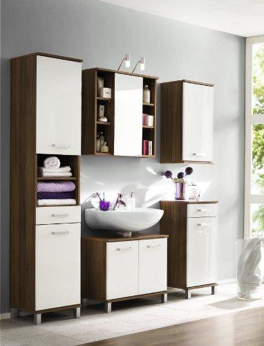 Posseik 5440 78 spiegelschrank maxim maxine walnuss for Badezimmermobel spiegelschrank