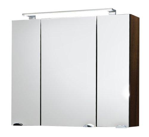 Posseik 5681 78 spiegelschrank rima 80 cm breit walnu for Bad spiegelschrank 80 cm breit