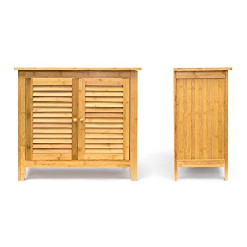 Bad Unterschrank Bambus.Relaxdays Waschbeckenunterschrank Lamell Aus Bambus H X B X T Ca 60 X 67 X 30cm Unterschrank Fürs Waschbecken Oder Den Waschtisch